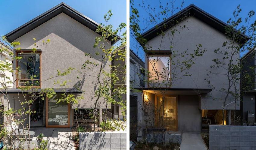 Căn nhà 2 tầng màu ghi hướng tầm nhìn ra phố với cây xanh và ánh sáng ngập tràn giữa thủ đô - Ảnh 1.