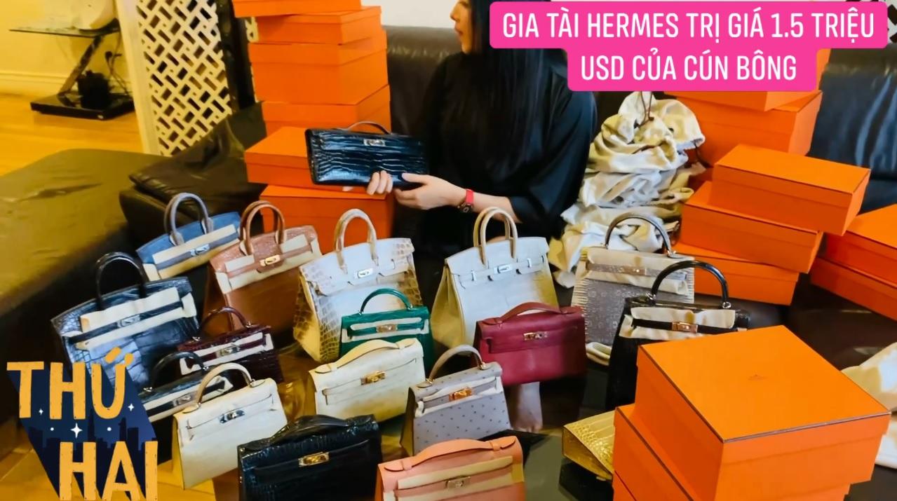 Hot mom nhiều túi Hermès hơn cả Ngọc Trinh lần đầu hé lộ gia tài túi hơn 30 tỷ, nhiều mẫu hot hit chưa chắc có tiền đã mua được - Ảnh 9.