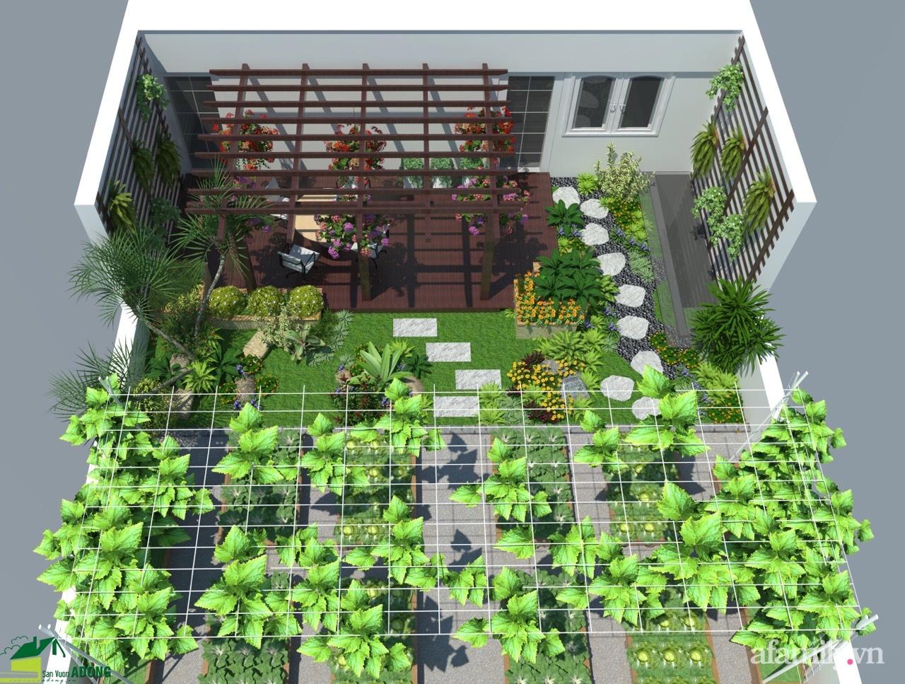 Vườn rau quả sạch 100m2 trên mái nhà của người phụ nữ xinh đẹp ở Hà Nội - Ảnh 1.