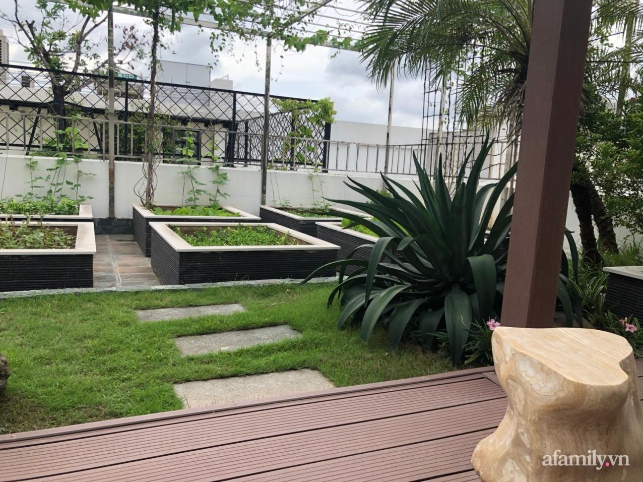 Vườn rau quả sạch 100m2 trên mái nhà của người phụ nữ xinh đẹp ở Hà Nội - Ảnh 3.