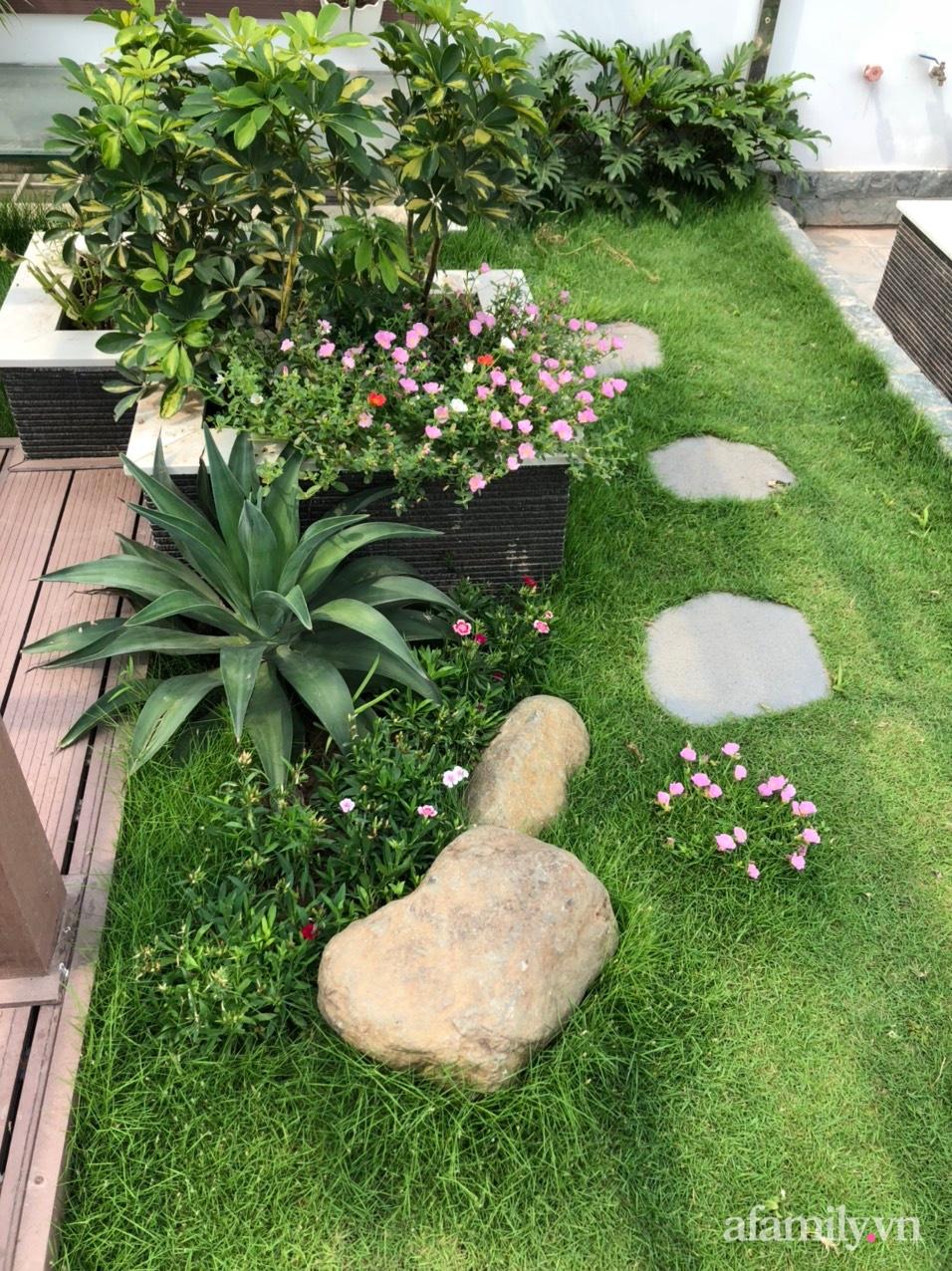 Vườn rau quả sạch 100m2 trên mái nhà của người phụ nữ xinh đẹp ở Hà Nội - Ảnh 4.