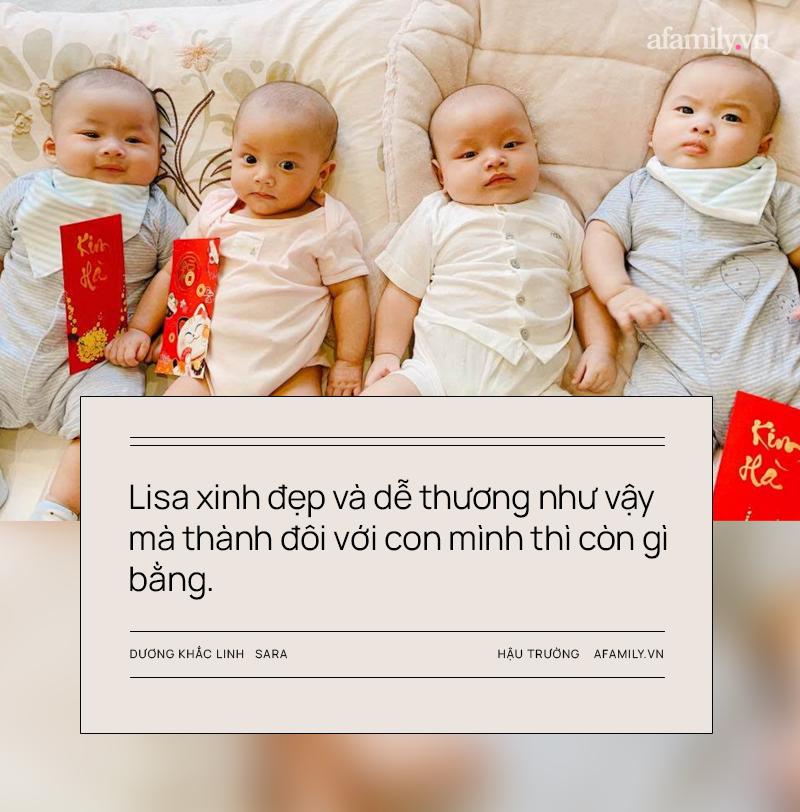 """Vợ chồng Dương Khắc Linh - Sara Lưu: Vui khi các con là """"thanh mai trúc mã"""" với Leon - Lisa nhà Hồ Ngọc Hà - Ảnh 5."""