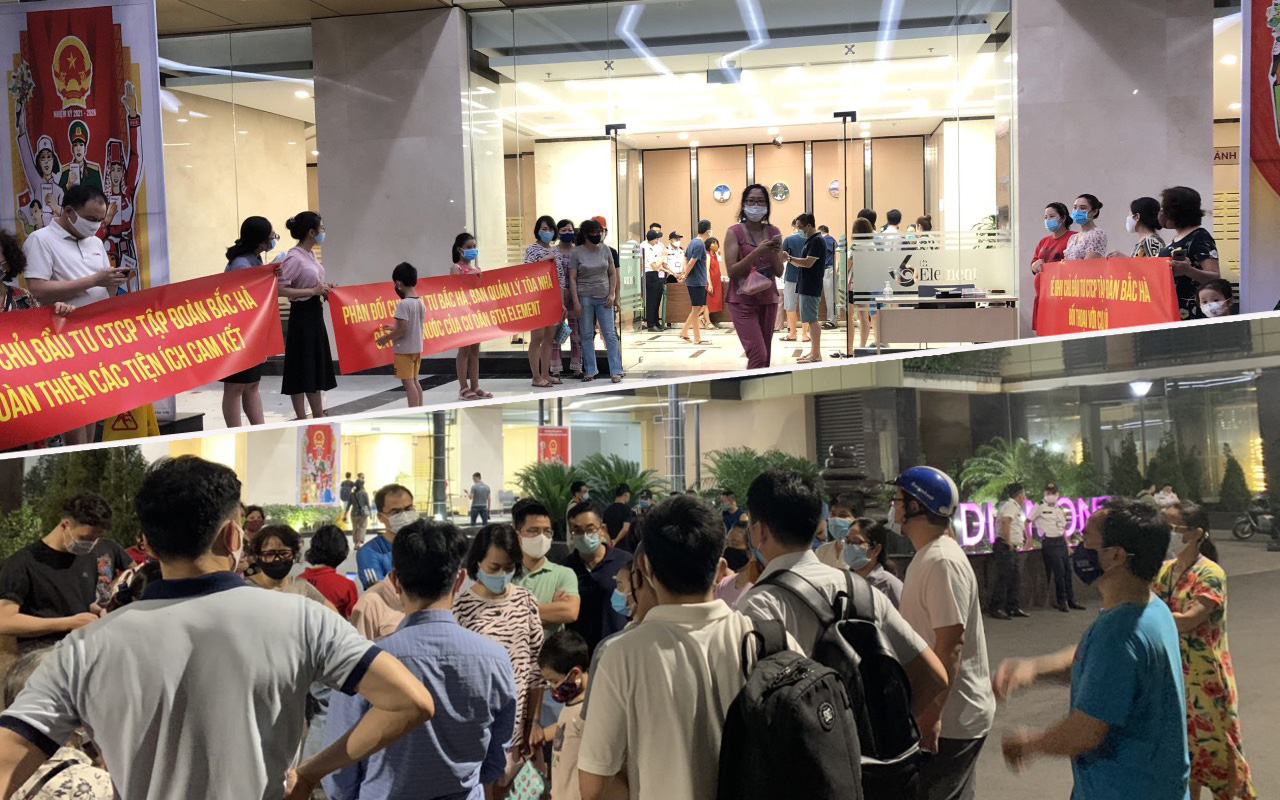 """Hà Nội: Phản đối CĐT thu phí dịch vụ quá cao, cư dân 6th Element bị """"mất"""" nước sinh hoạt giữa mùa dịch dưới cái nóng đỉnh điểm"""