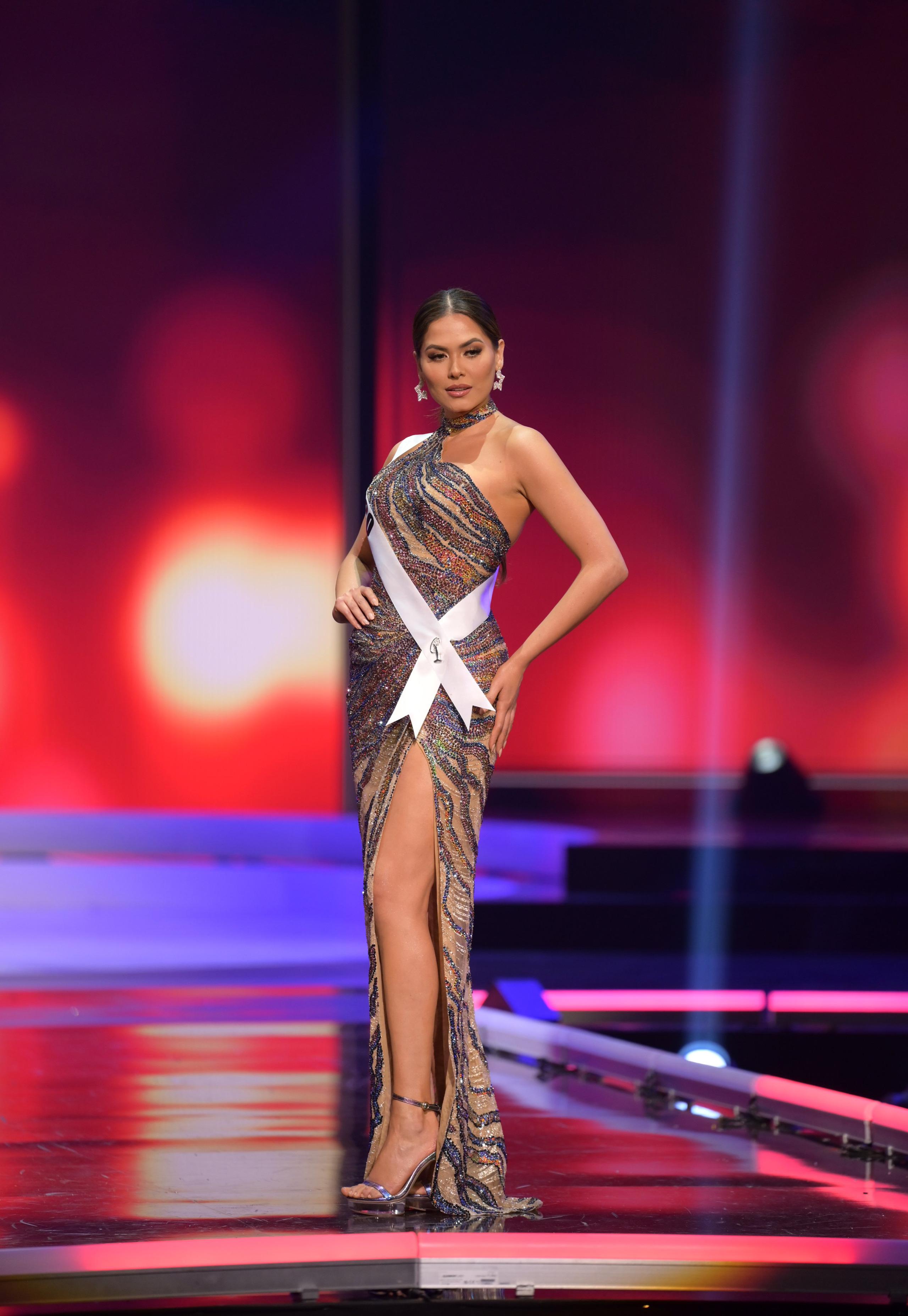 Tân Hoa hậu Hoàn vũ Andrea Meza mặc cái gì thế này? - Ảnh 4.