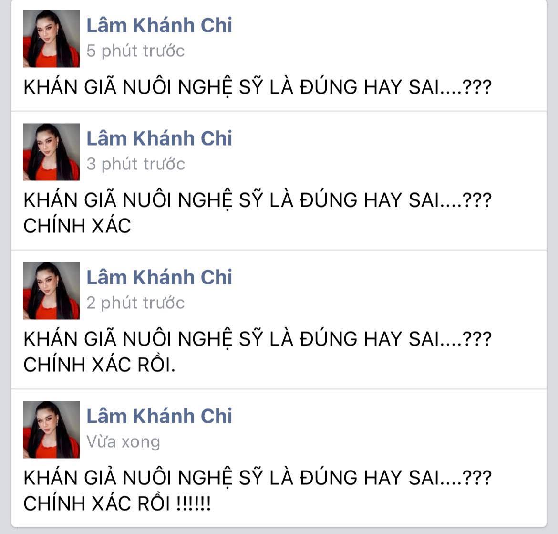 Lâm Khánh Chi nhập cuộc khẩu chiến khán giả nuôi nghệ sĩ của bà Phương Hằng, nói gì mà trong 5 phút sửa tới 4 lần? - Ảnh 3.