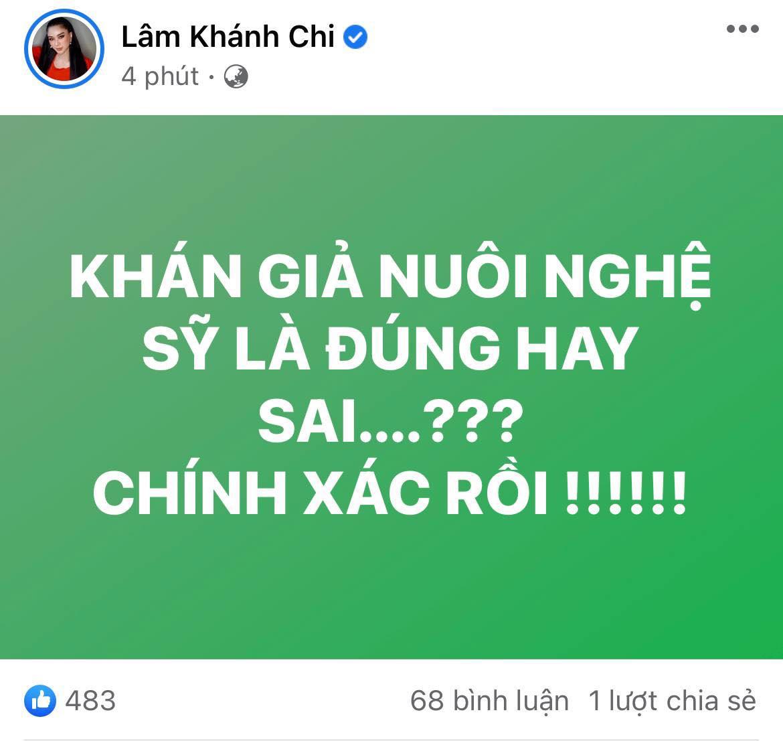 Lâm Khánh Chi nhập cuộc khẩu chiến khán giả nuôi nghệ sĩ của bà Phương Hằng, nói gì mà trong 5 phút sửa tới 4 lần? - Ảnh 2.
