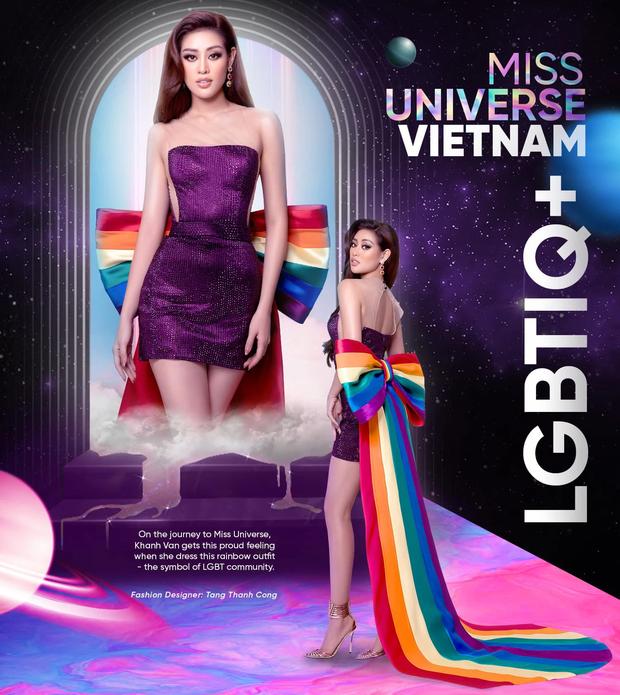 Trước đầm LGBT của HH Khánh Vân, đây từng là mẫu váy khiến người ta vô cùng tiếc nuối tại Miss Universe - Ảnh 1.