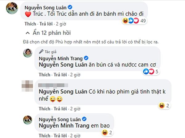 """Song Luân - Minh Trang của """"Cây táo nở hoa"""" tương tác ngọt lịm từ phim ra đời, bảo sao mà fan không đẩy thuyền - Ảnh 5."""