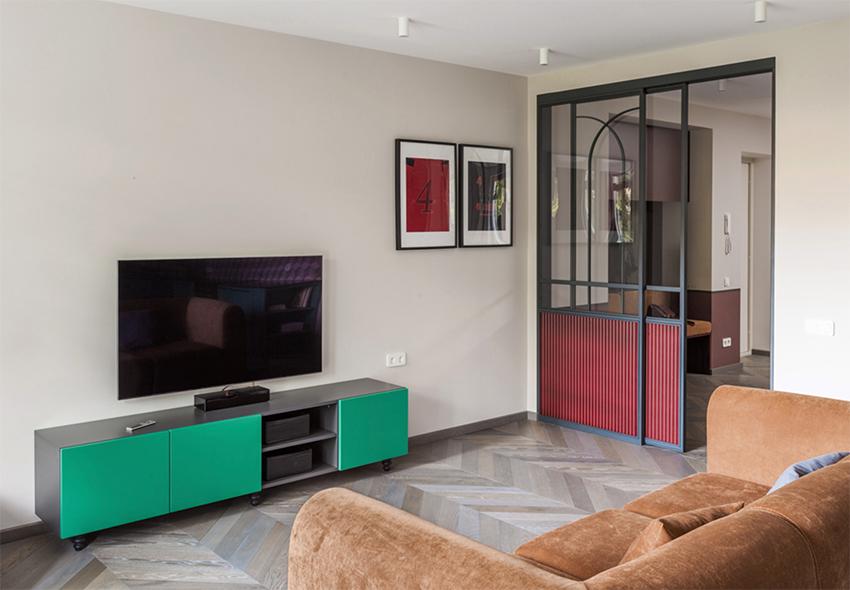 Căn hộ nhỏ đẹp quyến rũ với những gam màu Retro dành cho gia đình trẻ - Ảnh 5.