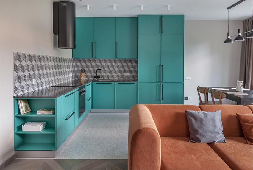 Căn hộ nhỏ đẹp quyến rũ với những gam màu Retro dành cho gia đình trẻ - Ảnh 6.