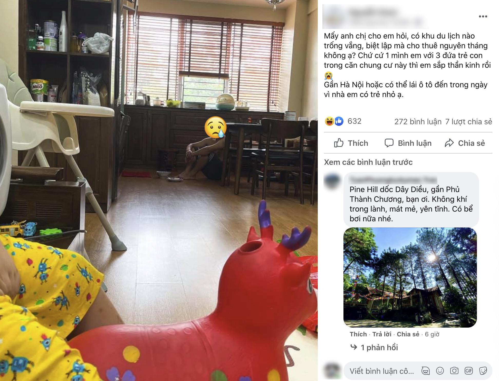"""Người mẹ kêu than """"sắp thần kinh"""" vì ở nhà trông con nghỉ hè sớm, hội phụ huynh đồng cảm liền gợi ý loạt địa điểm nghỉ dưỡng xả stress đáng đến - Ảnh 1."""