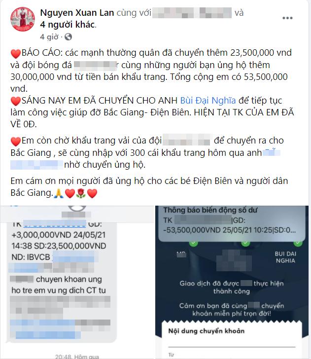 Giữa lùm xùm từ thiện 14 tỷ đồng của Hoài Linh, một sao Việt cũng nhanh chóng công khai chi tiết tiền kêu gọi quyên góp - Ảnh 1.
