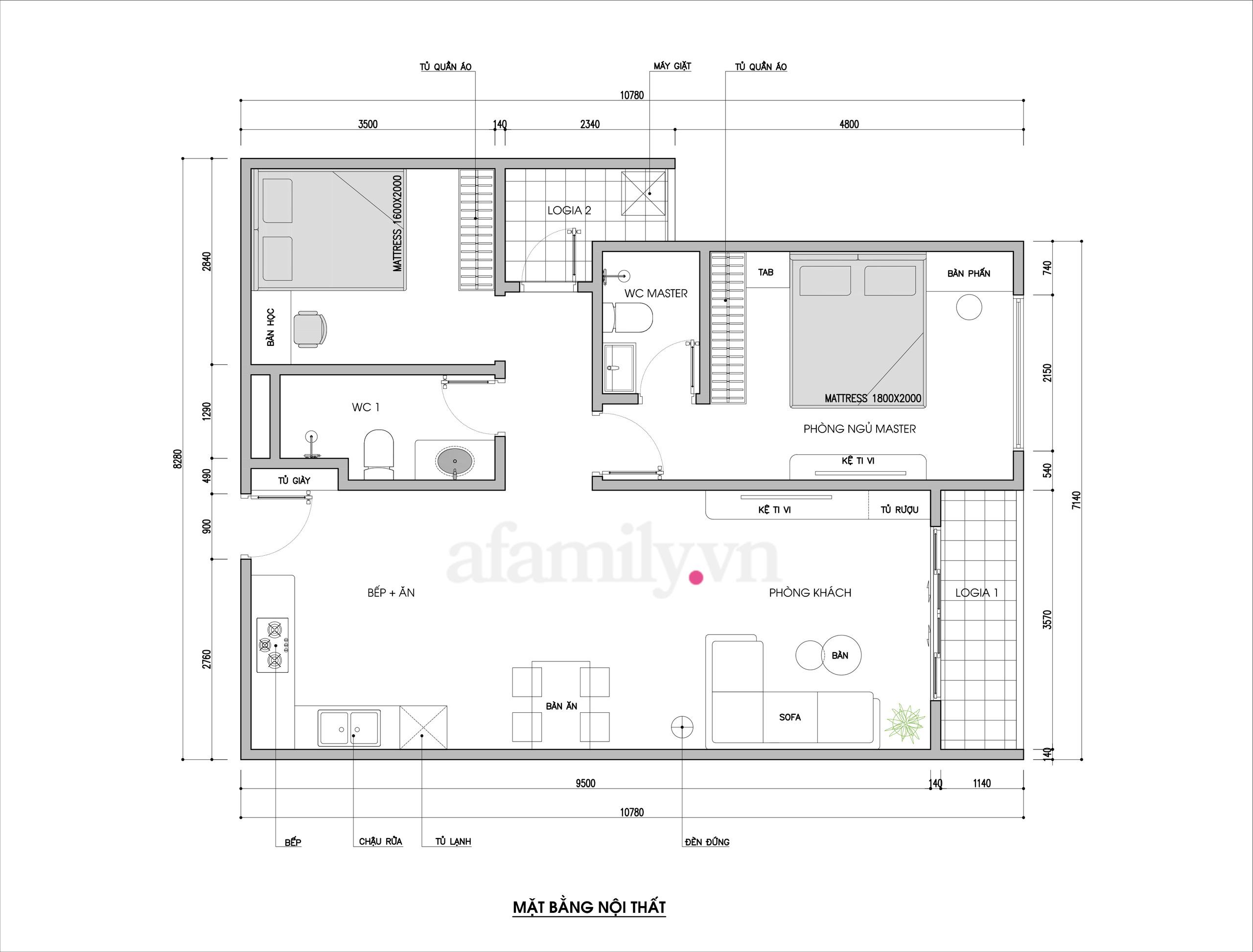 Căn hộ 76m² được kiến trúc sư tư vấn thiết kế theo phong cách Scandinavian chi phí 160 triệu - Ảnh 2.