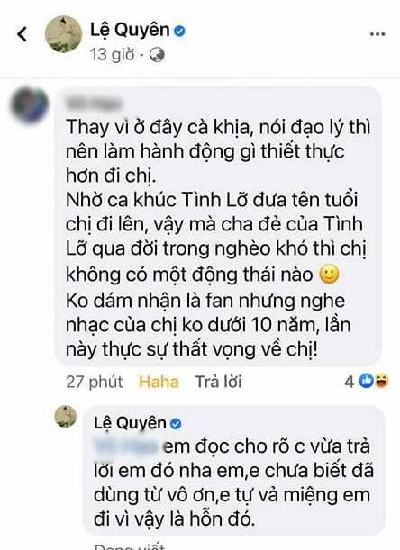Bị nói vô ơn với cố nhạc sĩ Thanh Bình, Lệ Quyên đanh thép đáp trả khiến netizen cứng họng phải làm ngay điều này? - Ảnh 2.