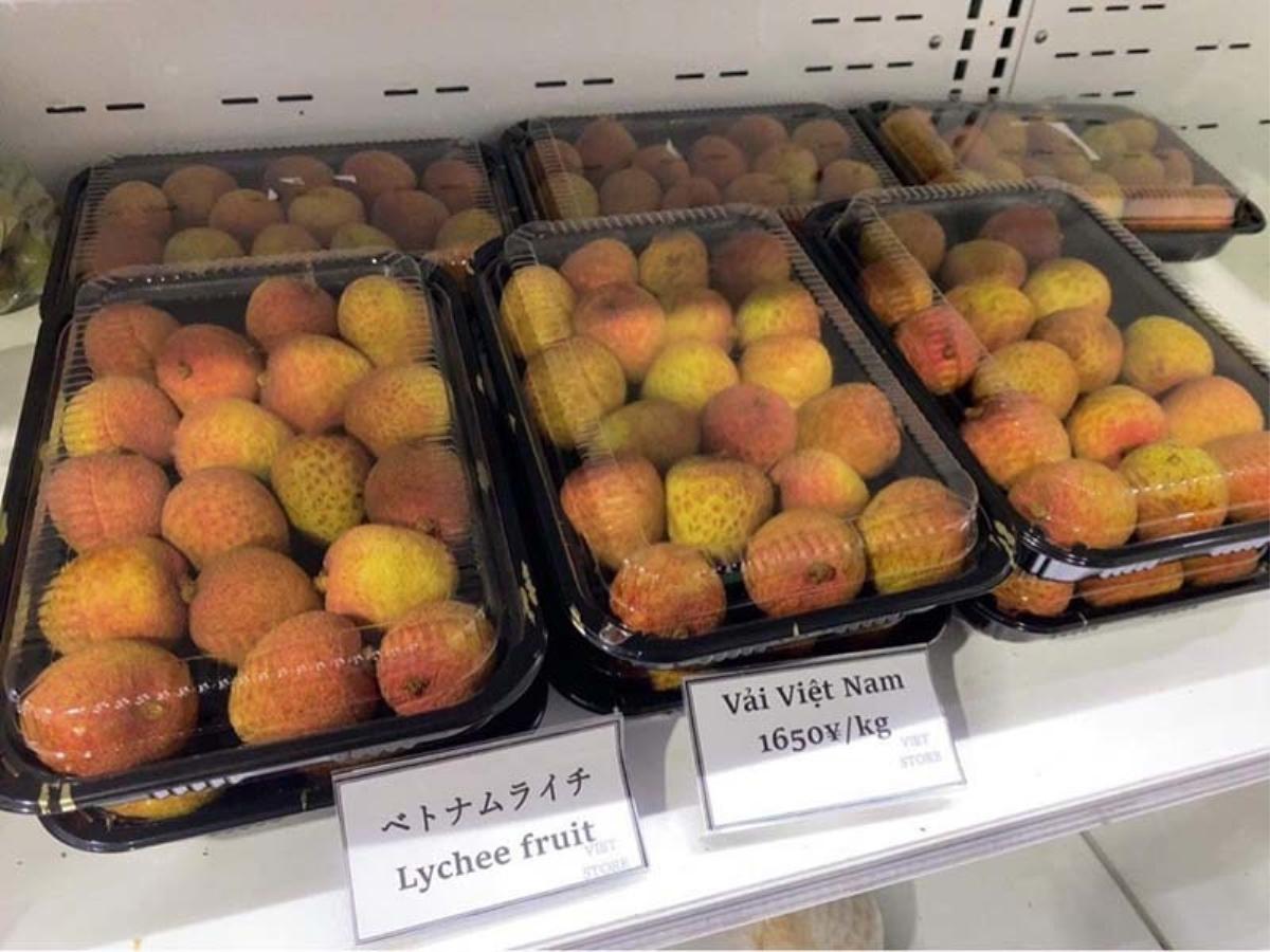 Vào siêu thị của Nhật Bản, vải thiều Bắc Giang bán giá 500 nghìn/kg - Ảnh 3.