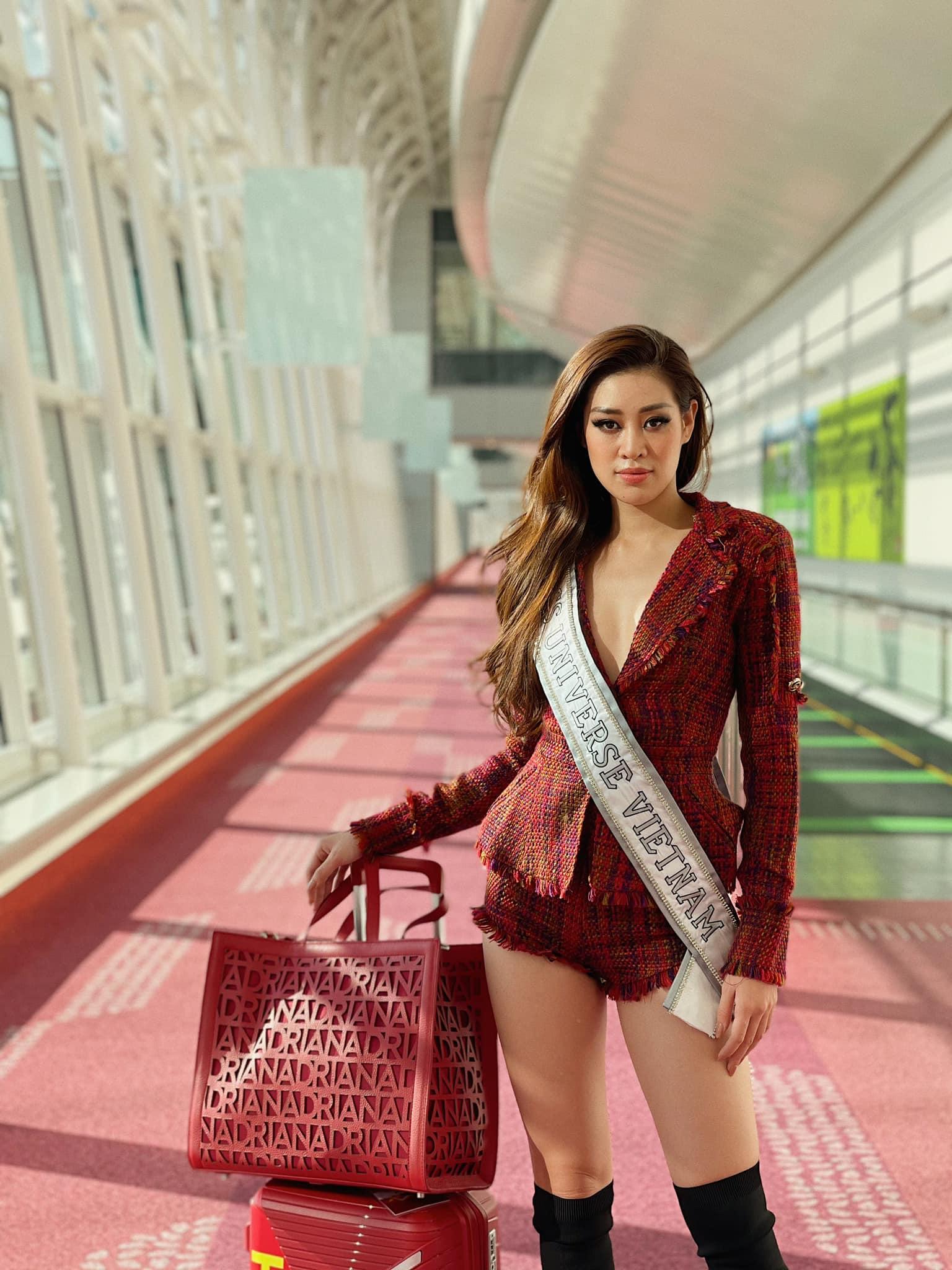 Khánh Vân đã có mặt tại Mỹ dự Miss Universe 2020: Vừa đến liền đọ sắc vóc chặt chém đối thủ và ghi điểm bằng 1 chi tiết - Ảnh 7.