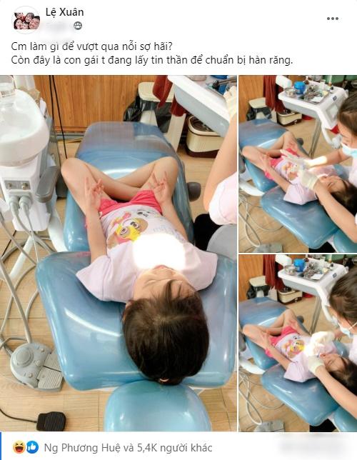 """Được mẹ đưa đi làm răng, bé gái có hành động """"làm phép"""" trấn áp cơn sợ hãi khiến người lớn cũng cảm thấy bất ngờ - Ảnh 1."""
