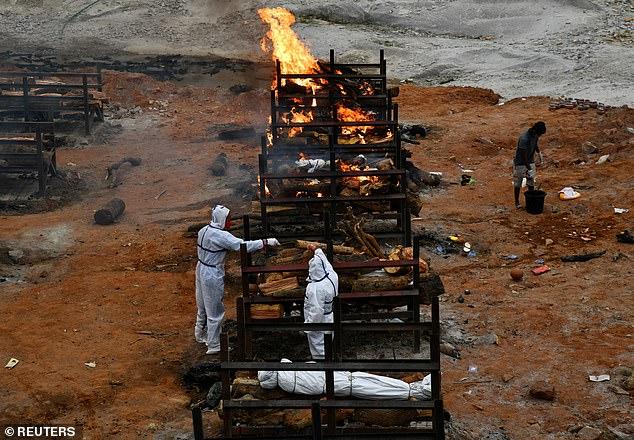 """Cảnh tượng đau xé lòng giữa """"địa ngục"""" ở Ấn Độ: Thẩm phán qua đời vì Covid-19, thi thể bị chó hoang cắn xé khi đang chờ hỏa táng - Ảnh 2."""
