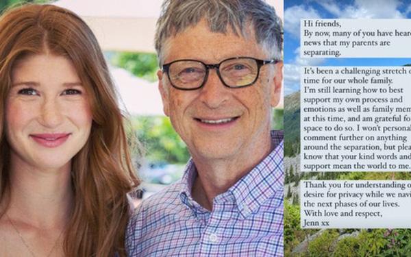 """Con gái cả của Bill Gates lần đầu lên tiếng về vụ ly hôn chấn động của cha mẹ: """"Đây là khoảng thời gian thách thức đối với cả gia đình"""" - Ảnh 1."""