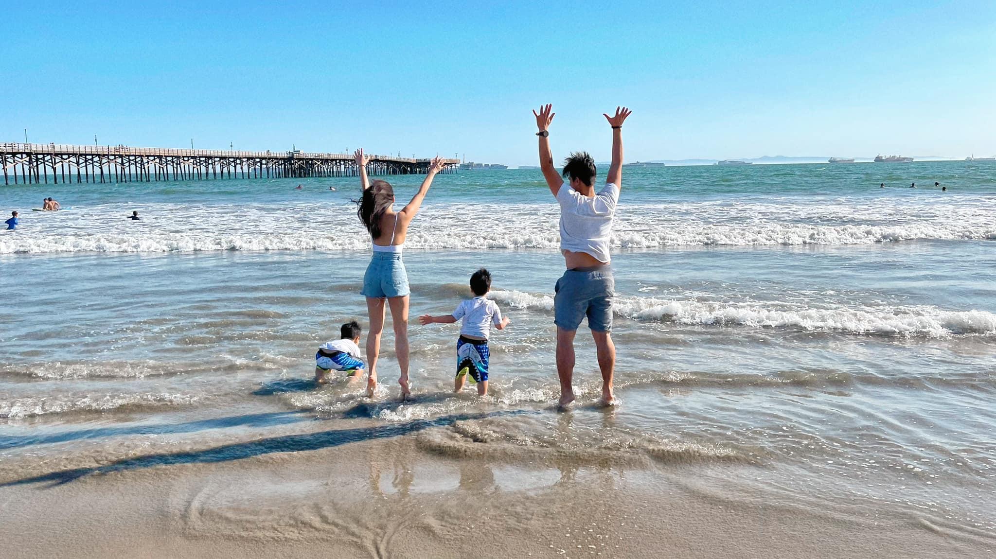 """Một ngày của mẹ con hot mom Quỳnh Trâm sau 1 năm """"kẹt"""" ở Mỹ vì dịch Covid: Lên rừng xuống biển khám phá, cuối tuần đi picnic khắp nơi - Ảnh 4."""