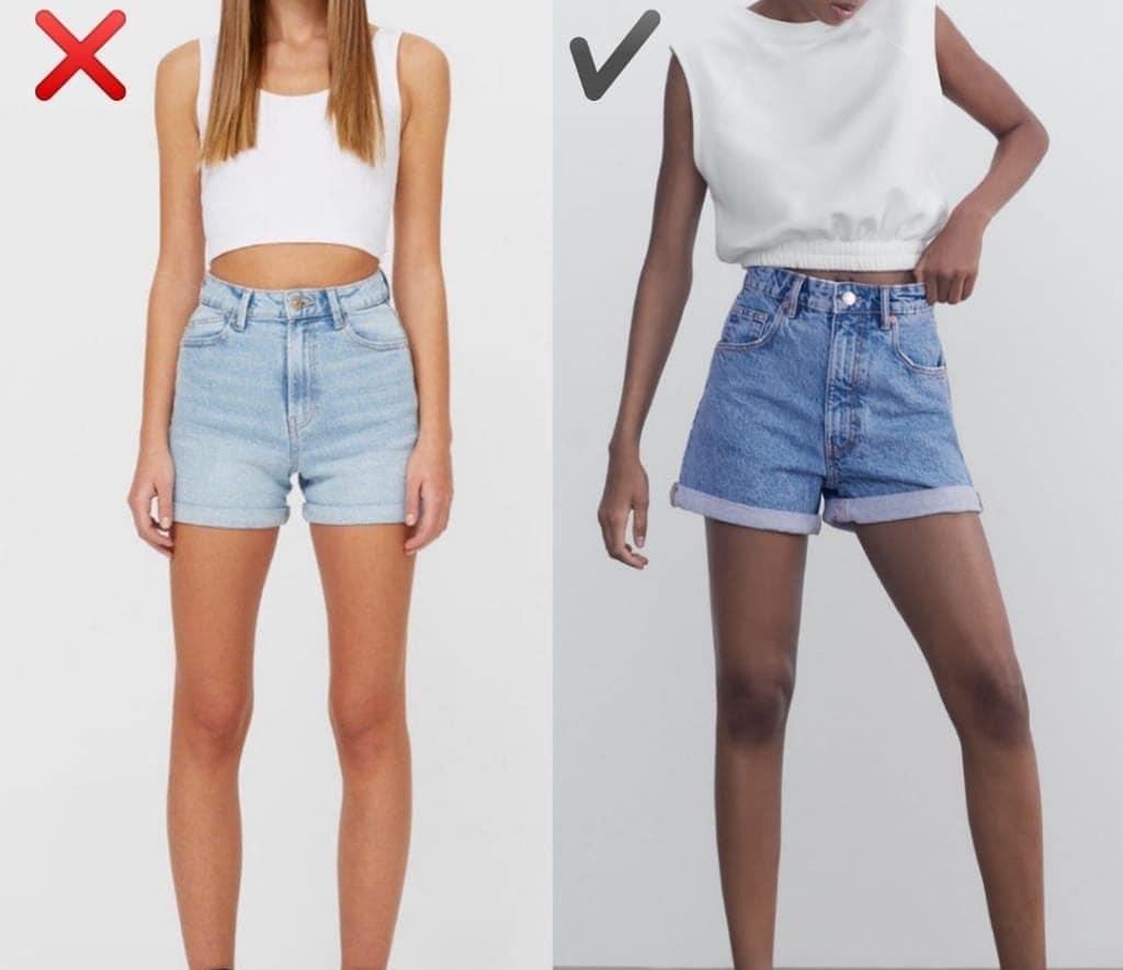 """6 kiểu quần short jeans """"đánh tụt"""" style của bạn xuống mức thảm họa - Ảnh 4."""