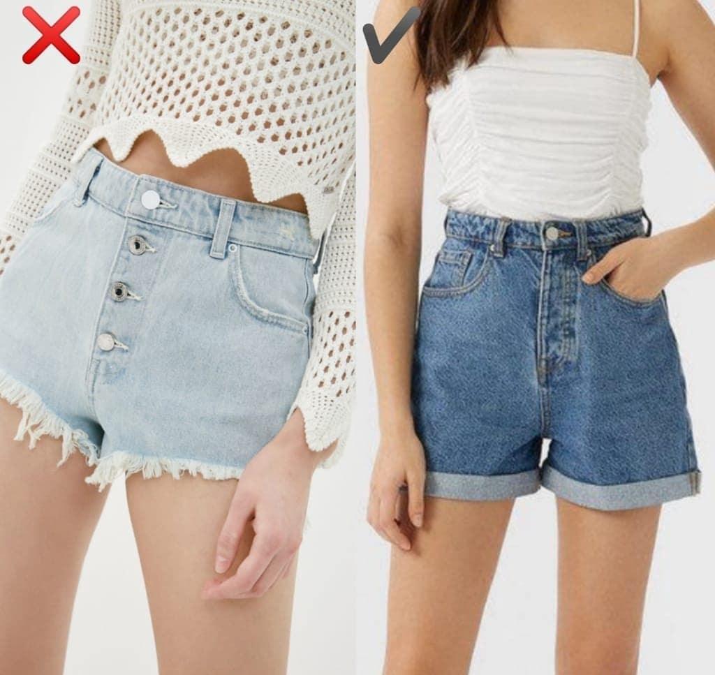 """6 kiểu quần short jeans """"đánh tụt"""" style của bạn xuống mức thảm họa - Ảnh 6."""
