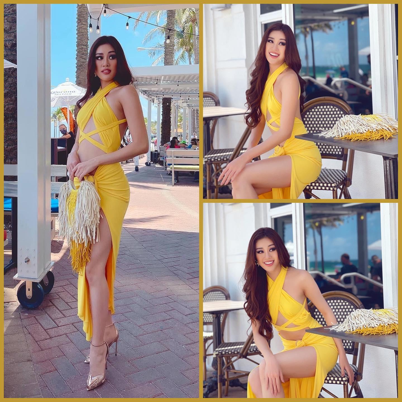 """Chặt chém nhất """"hội chị em Miss Universe"""", Khánh Vân tụt cân thấy rõ vẫn sexy tột cùng với bộ đầm cắt khoét xém chút thì """"hết hồn"""" - Ảnh 3."""