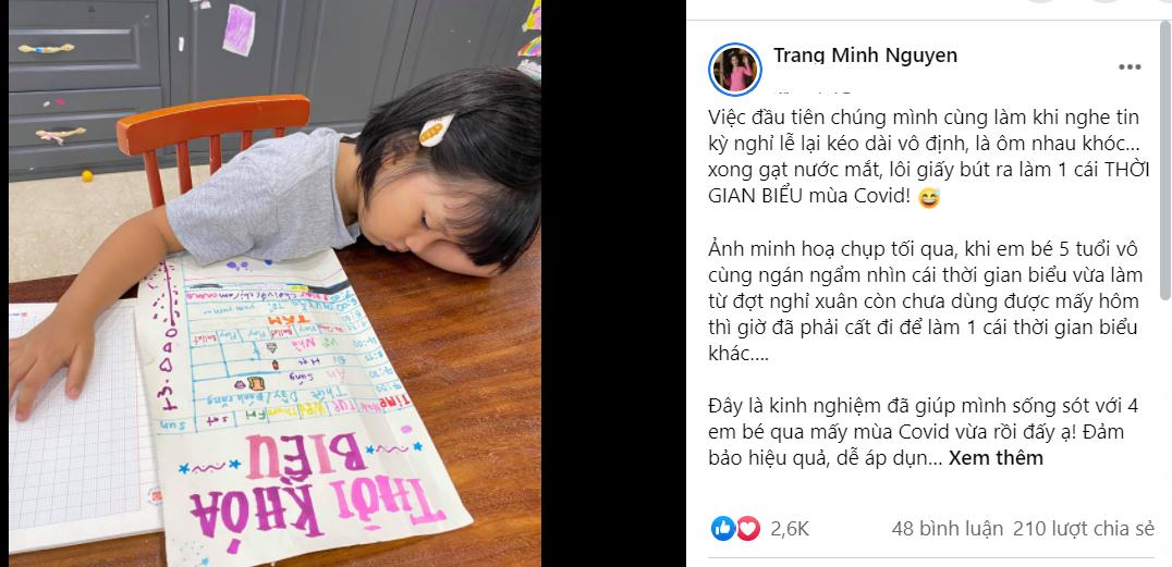 'Hot mom 4 con' MC Minh Trang mách nước dạy dỗ bầy con những ngày nghỉ học phòng dịch - Ảnh 3.