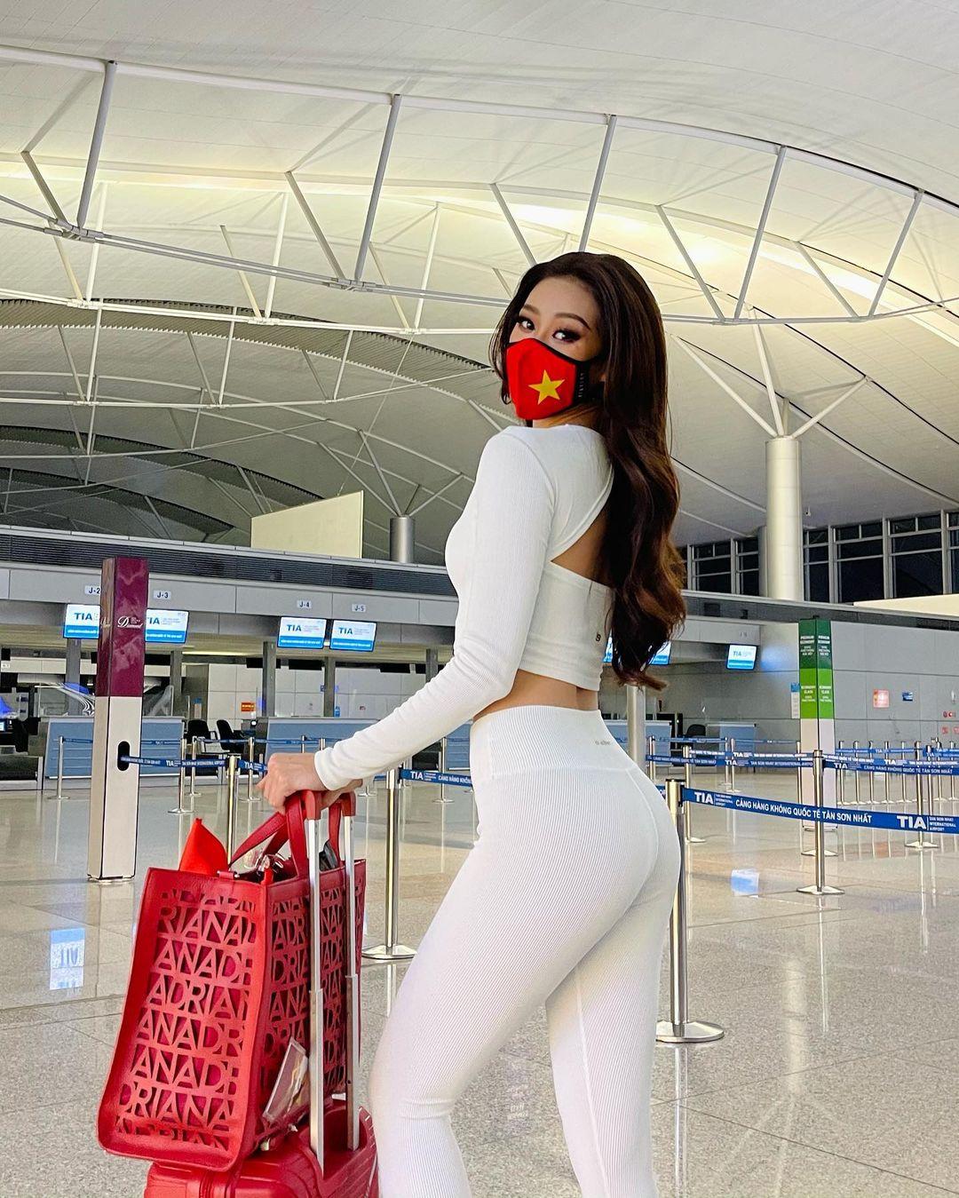 Netizen xỉu ngang với số outfit của Khánh Vân: 5 ngày mặc 8 set đẹp đỉnh, định san phẳng Miss Universe luôn hay gì? - Ảnh 2.