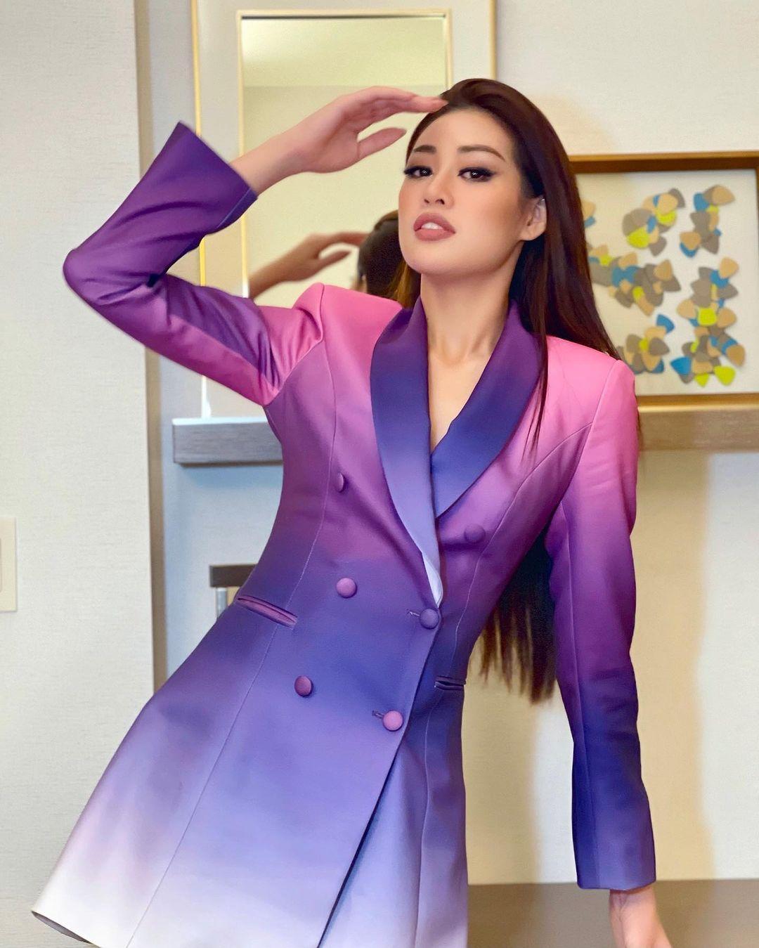 Netizen xỉu ngang với số outfit của Khánh Vân: 5 ngày mặc 8 set đẹp đỉnh, định san phẳng Miss Universe luôn hay gì? - Ảnh 8.