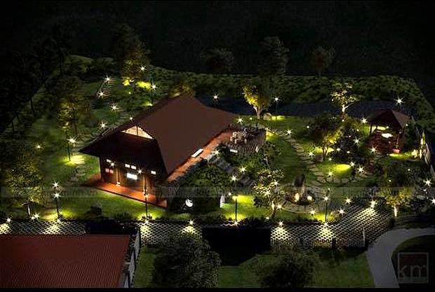 """Biệt phủ rộng thênh thang, kết cấu như resort của Xuân Bắc: Được xây bằng gỗ tự nhiên, nhìn toàn cảnh sân vườn thôi mà """"choáng"""" - Ảnh 1."""
