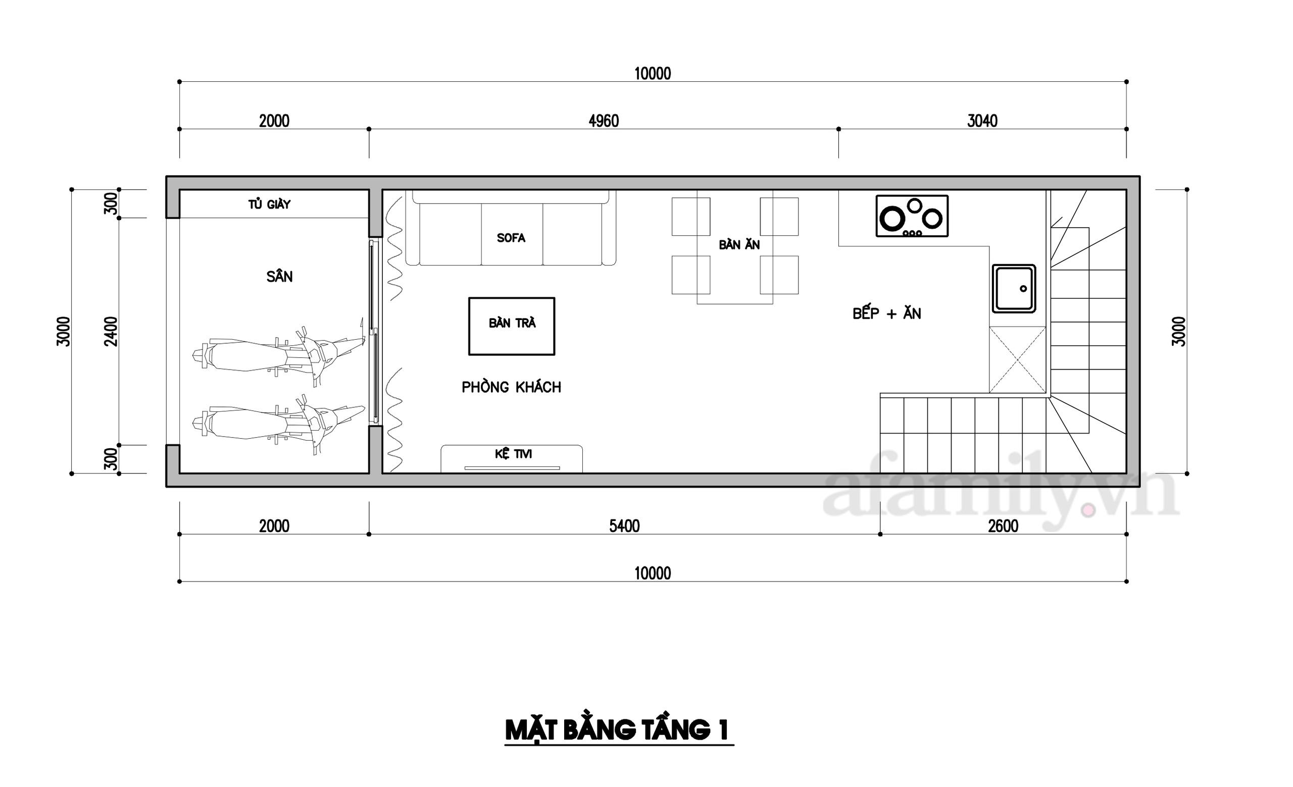 Kiến trúc sư tư vấn thiết kế nhà phố ba tầng 3x10m chi phí tiết kiệm chỉ 178 triệu đồng - Ảnh 2.
