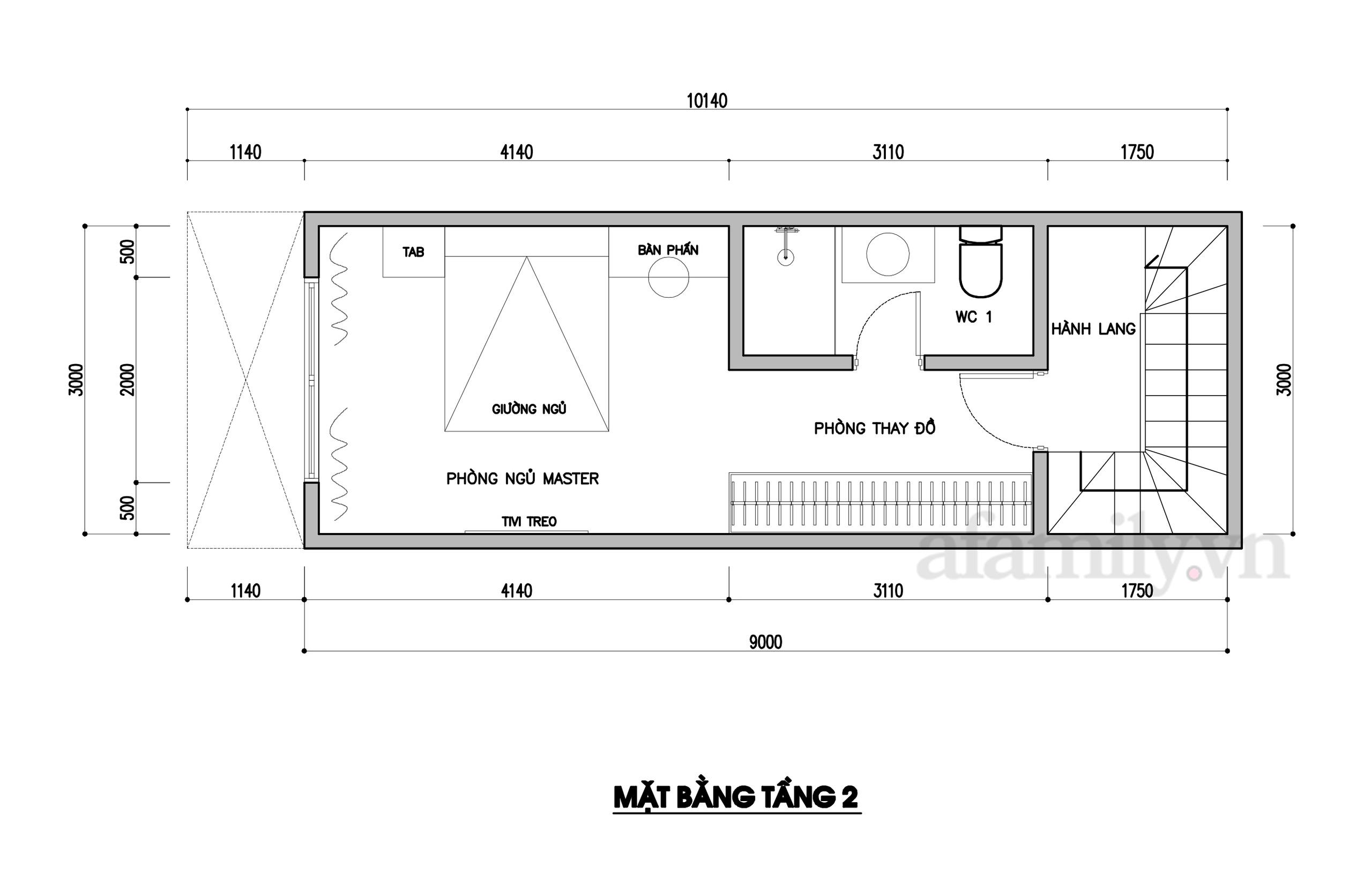 Kiến trúc sư tư vấn thiết kế nhà phố ba tầng 3x10m chi phí tiết kiệm chỉ 178 triệu đồng - Ảnh 3.