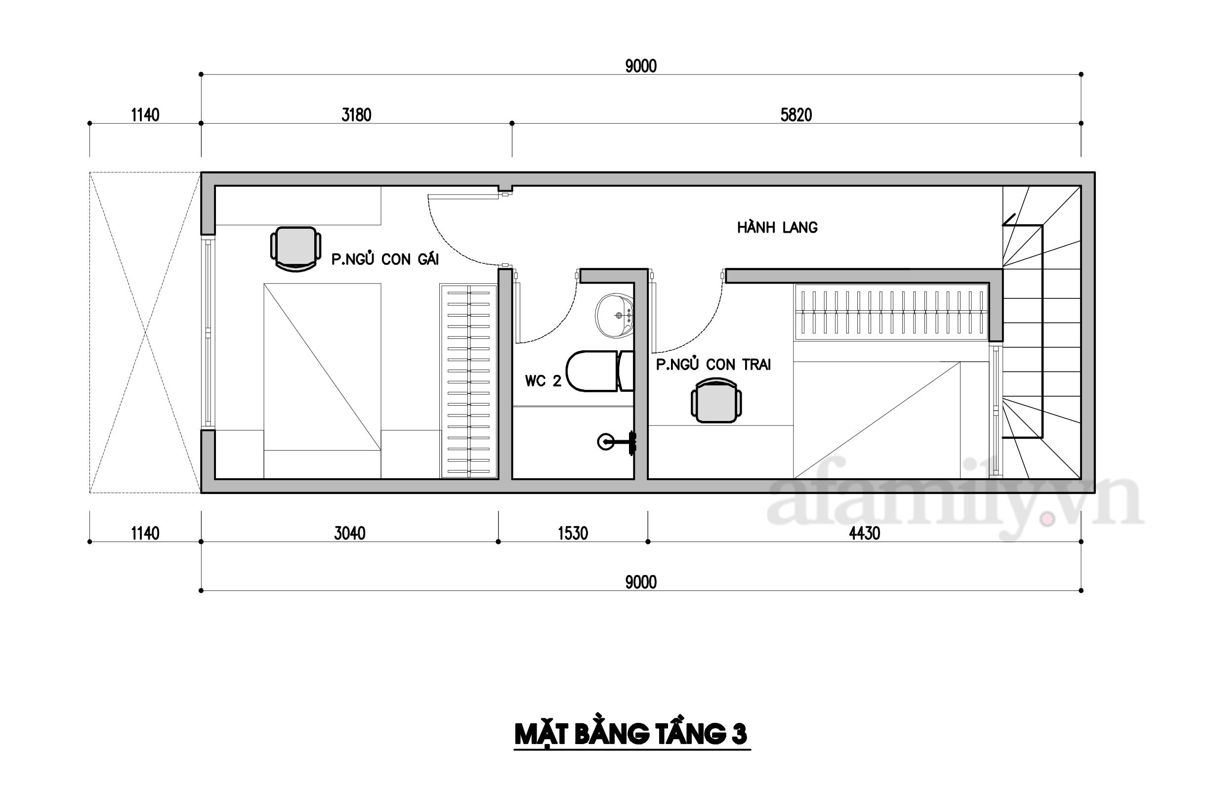 Kiến trúc sư tư vấn thiết kế nhà phố ba tầng 3x10m chi phí tiết kiệm chỉ 178 triệu đồng - Ảnh 4.