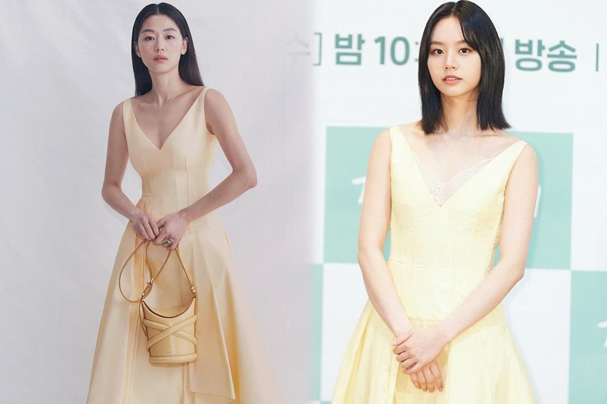 Mợ chảnh Jeon Ji Hyun - Hyeri đụng hàng: Bên lấp ló vòng 1, bên lại ngây thơ e ấp, style nào ăn điểm hơn? - Ảnh 6.
