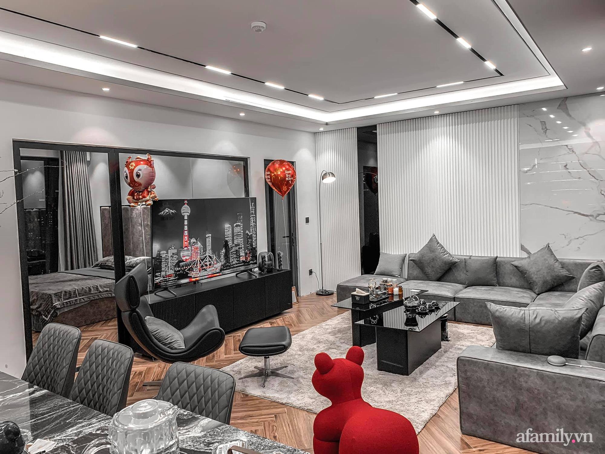 Căn hộ 125m² với gam màu tối cực chất của cặp vợ chồng yêu thời trang ở Hà Nội - Ảnh 6.