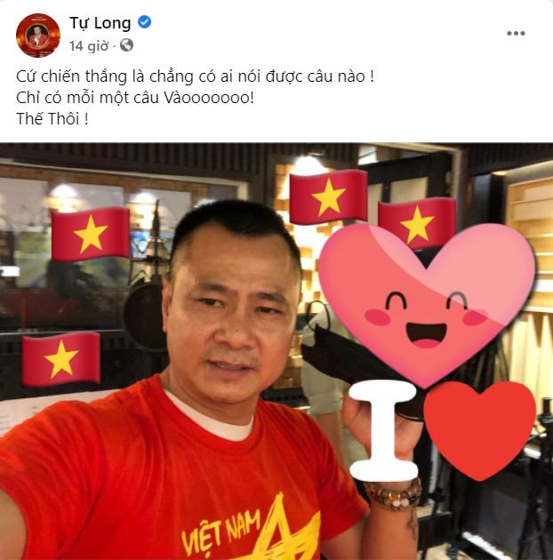 Sao Việt nô nức cổ vũ đội tuyển Việt Nam: Nhà ai cũng khoe cờ đỏ sao vàng rực rỡ, con gái Đông Nhi cực phấn khích - Ảnh 6.