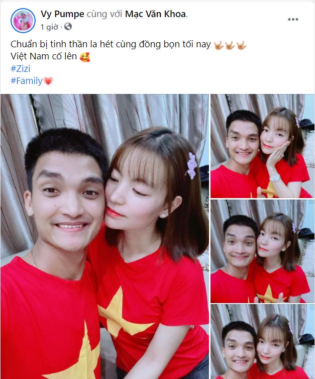 Sao Việt nô nức cổ vũ đội tuyển Việt Nam: Nhà ai cũng khoe cờ đỏ sao vàng rực rỡ, con gái Đông Nhi cực phấn khích - Ảnh 8.