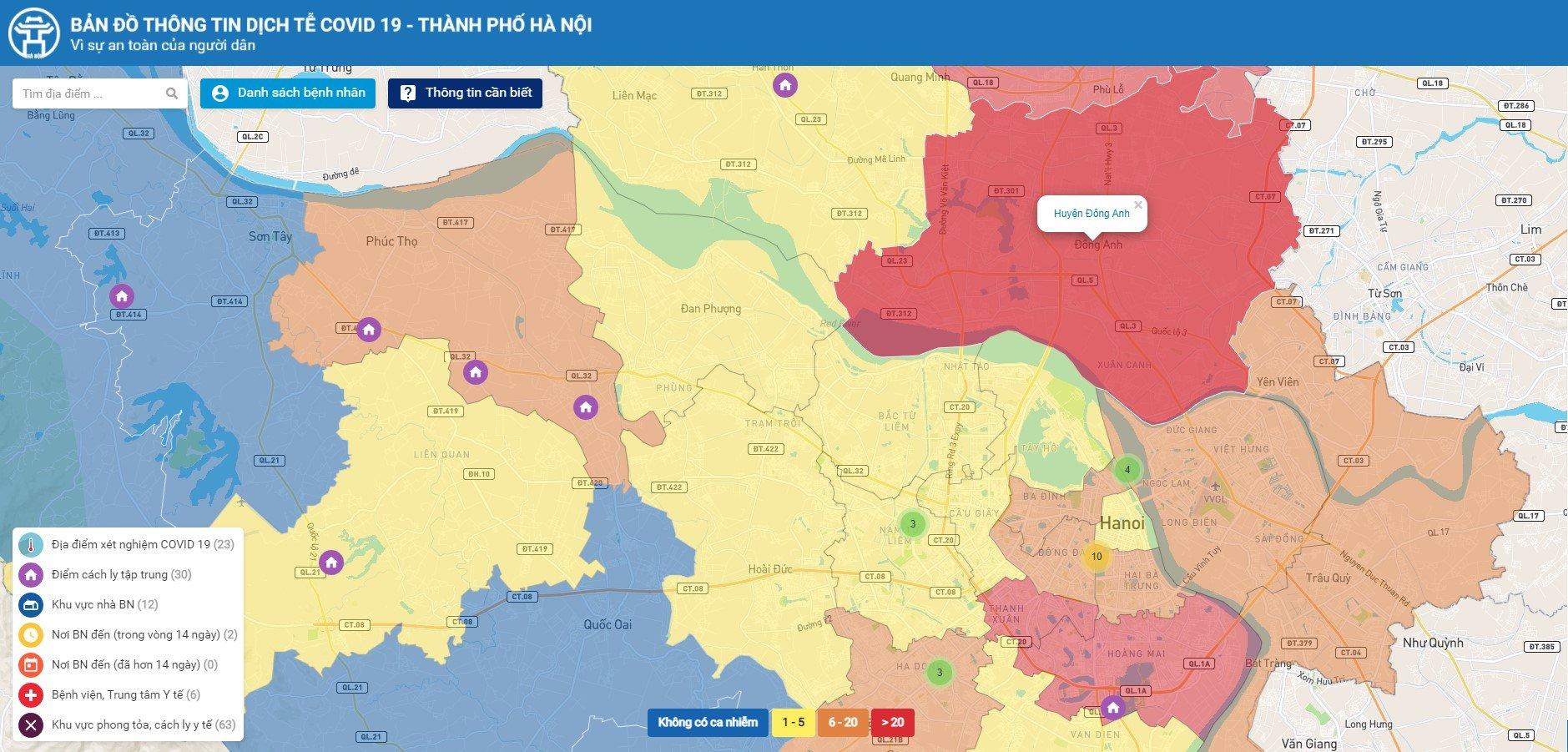 Từ hôm nay, người Hà Nội có thể tự tra thông tin dịch tễ trên bản đồ COVID-19 - Ảnh 3.
