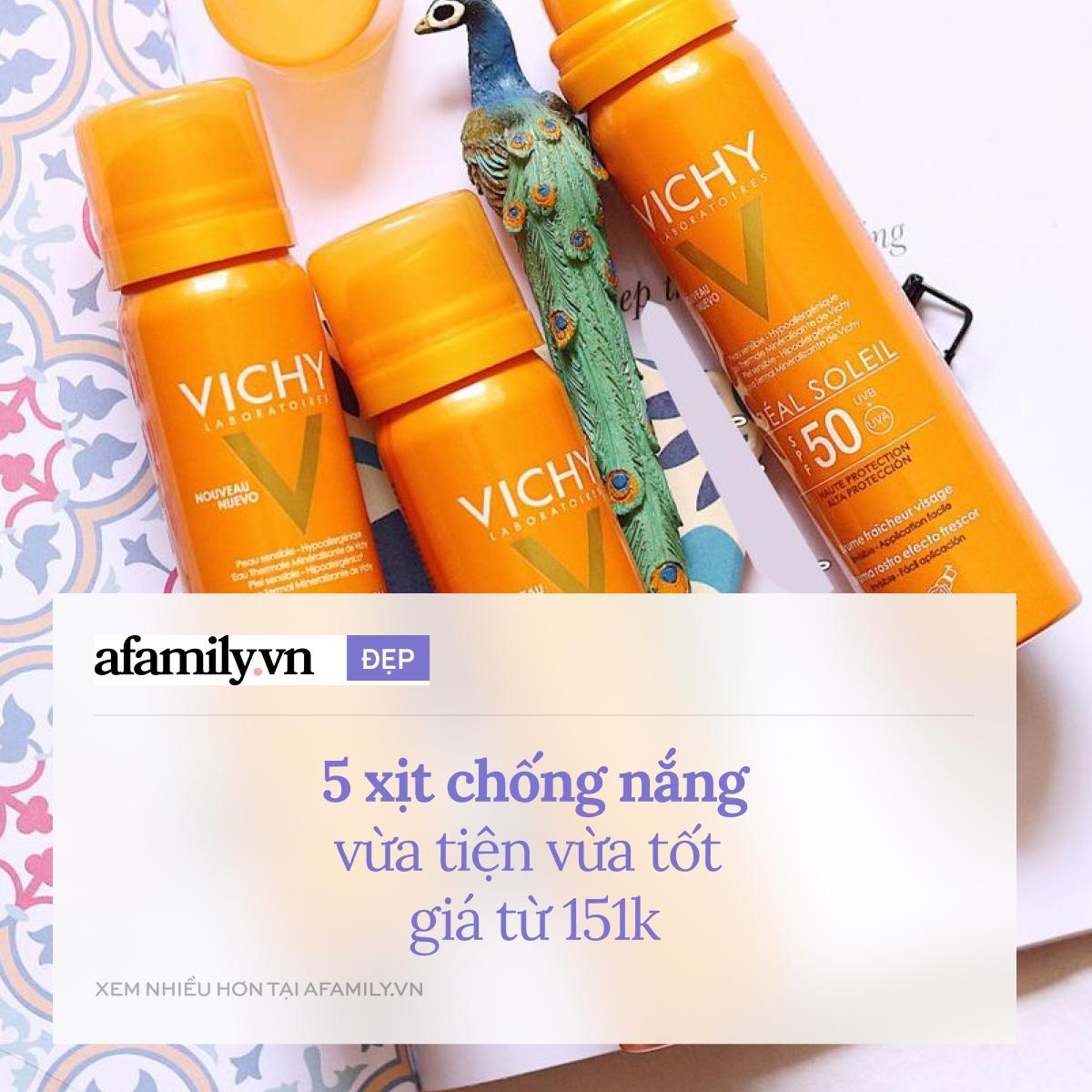 5 xịt chống nắng tốt nhất, vừa bảo vệ da vừa tiện dụng giá từ 151k - Ảnh 1.
