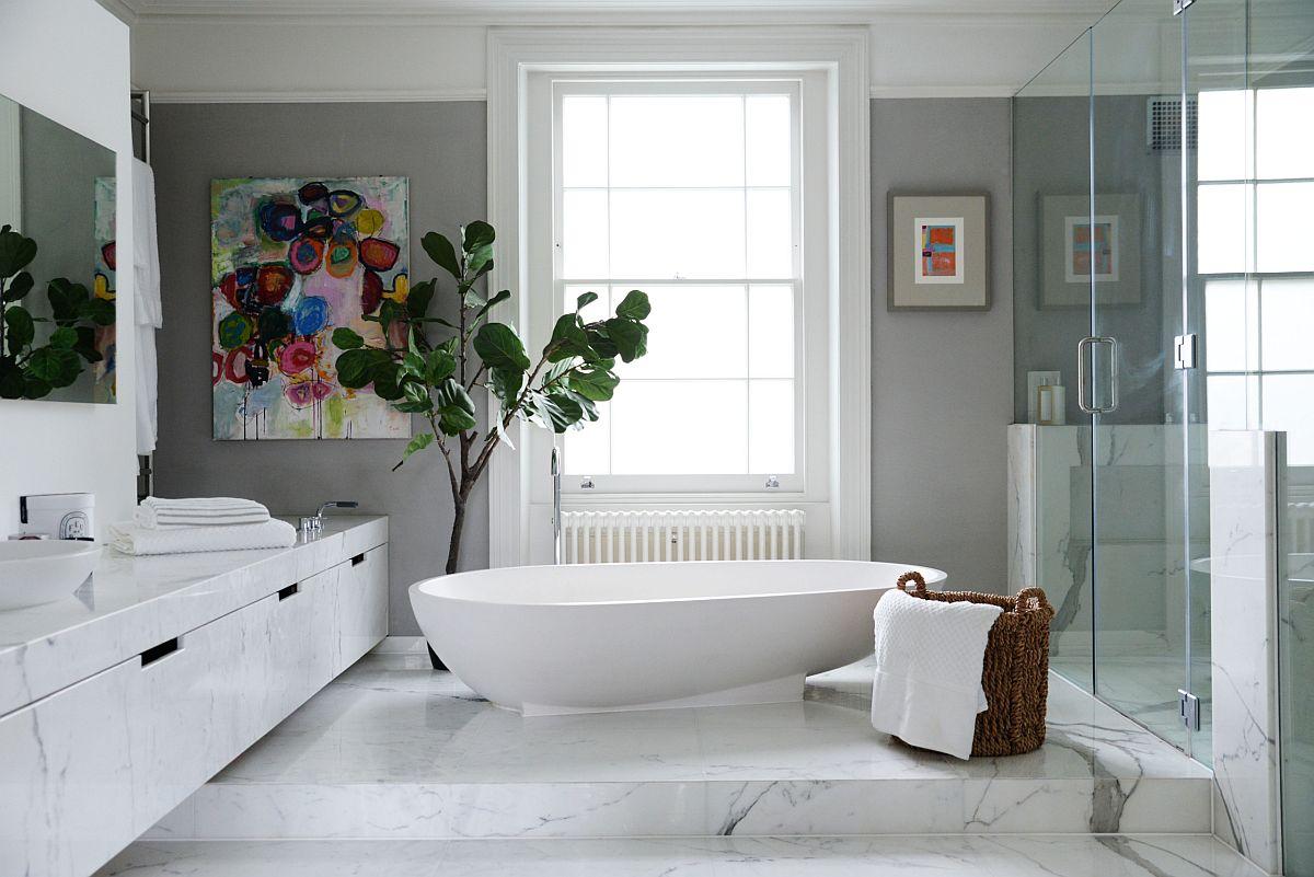 Màu trắng, gam màu đẹp nhất cho phòng tắm thêm thư giãn và tinh tế