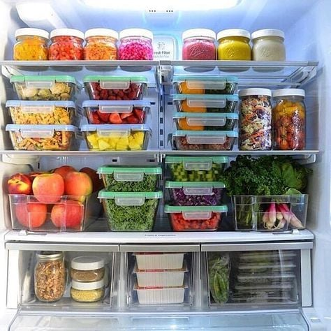 """""""Mát con mắt"""" với chiếc tủ lạnh xanh của cô nàng Eat Clean: Bí quyết giữ rau tươi ngon suốt 2 tuần không phải ai cũng nằm lòng! - Ảnh 7."""