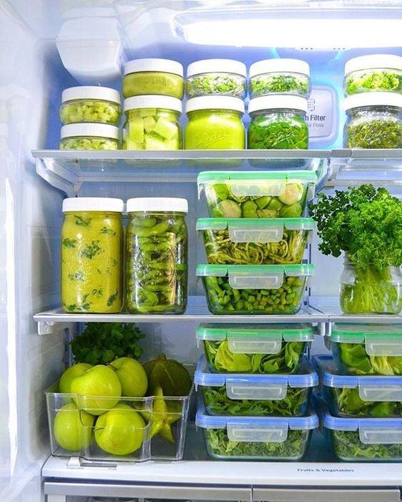 """""""Mát con mắt"""" với chiếc tủ lạnh xanh của cô nàng Eat Clean: Bí quyết giữ rau tươi ngon suốt 2 tuần không phải ai cũng nằm lòng! - Ảnh 5."""