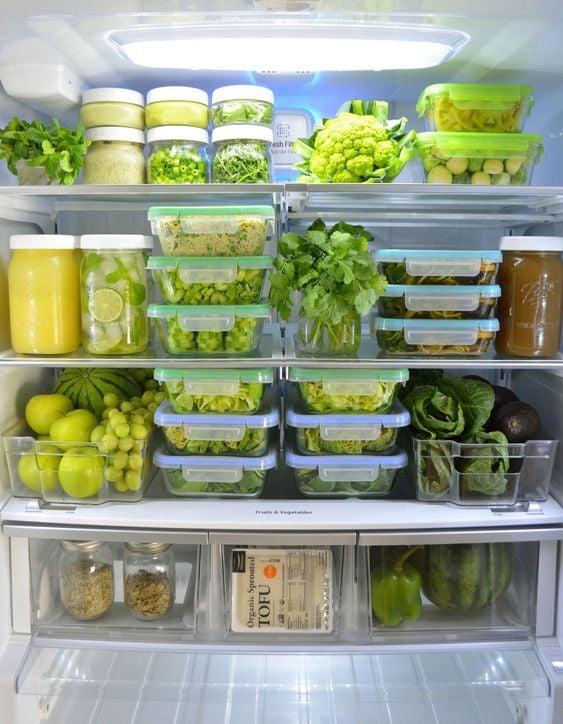 """""""Mát con mắt"""" với chiếc tủ lạnh xanh của cô nàng Eat Clean: Bí quyết giữ rau tươi ngon suốt 2 tuần không phải ai cũng nằm lòng! - Ảnh 6."""