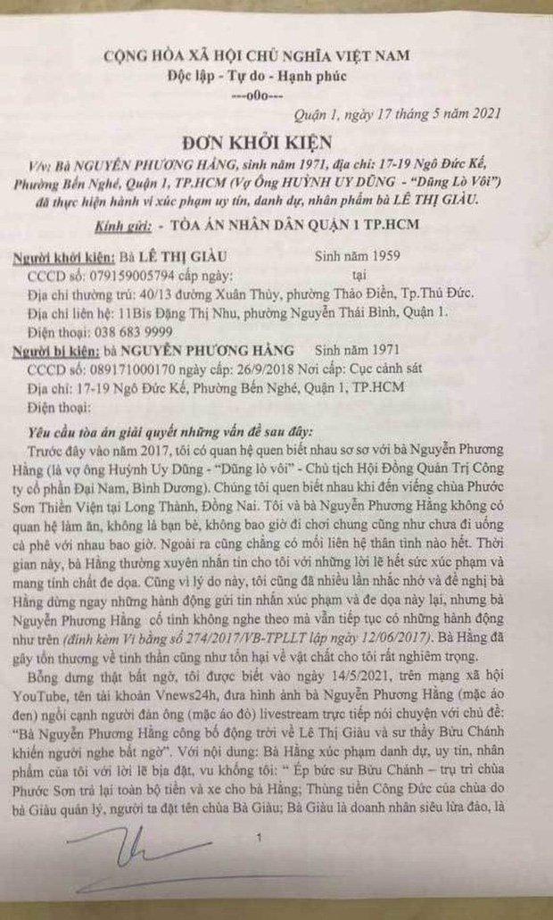 """Vụ nữ """"đại gia"""" kiện bà Nguyễn Phương Hằng 1.000 tỷ đồng vì xúc phạm danh dự: Liệu có khả thi? - Ảnh 5."""