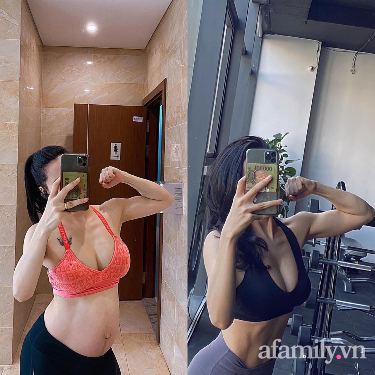 Mẹ 9x khoe cơ bụng đẹp nức nở dù mới sinh con 3 tháng, chỉ ra sai lầm của nhiều chị em khiến việc giảm cân sau sinh thất bại - Ảnh 10.