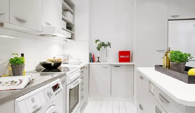 """Những """"tuyệt chiêu"""" thiết kế cho căn bếp 4-5m2, không gian nhỏ mà hiệu quả sử dụng vẫn hoàn hảo - Ảnh 10."""