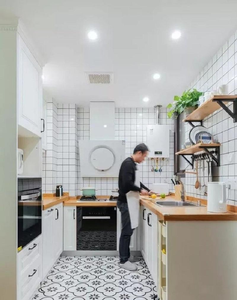 """Những """"tuyệt chiêu"""" thiết kế cho căn bếp 4-5m2, không gian nhỏ mà hiệu quả sử dụng vẫn hoàn hảo - Ảnh 7."""