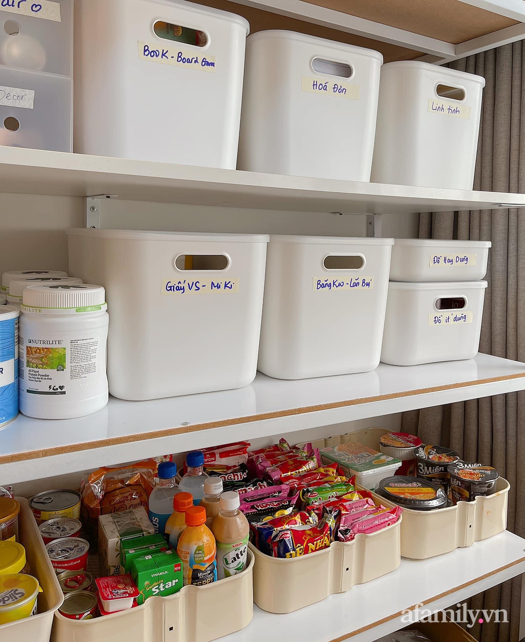 Mẹ ở Sài Gòn sử dụng phụ kiện nhỏ mà hô biến góc lưu trữ cho ngôi nhà gọn gàng, tinh tươm chỉ từ 129k - Ảnh 4.