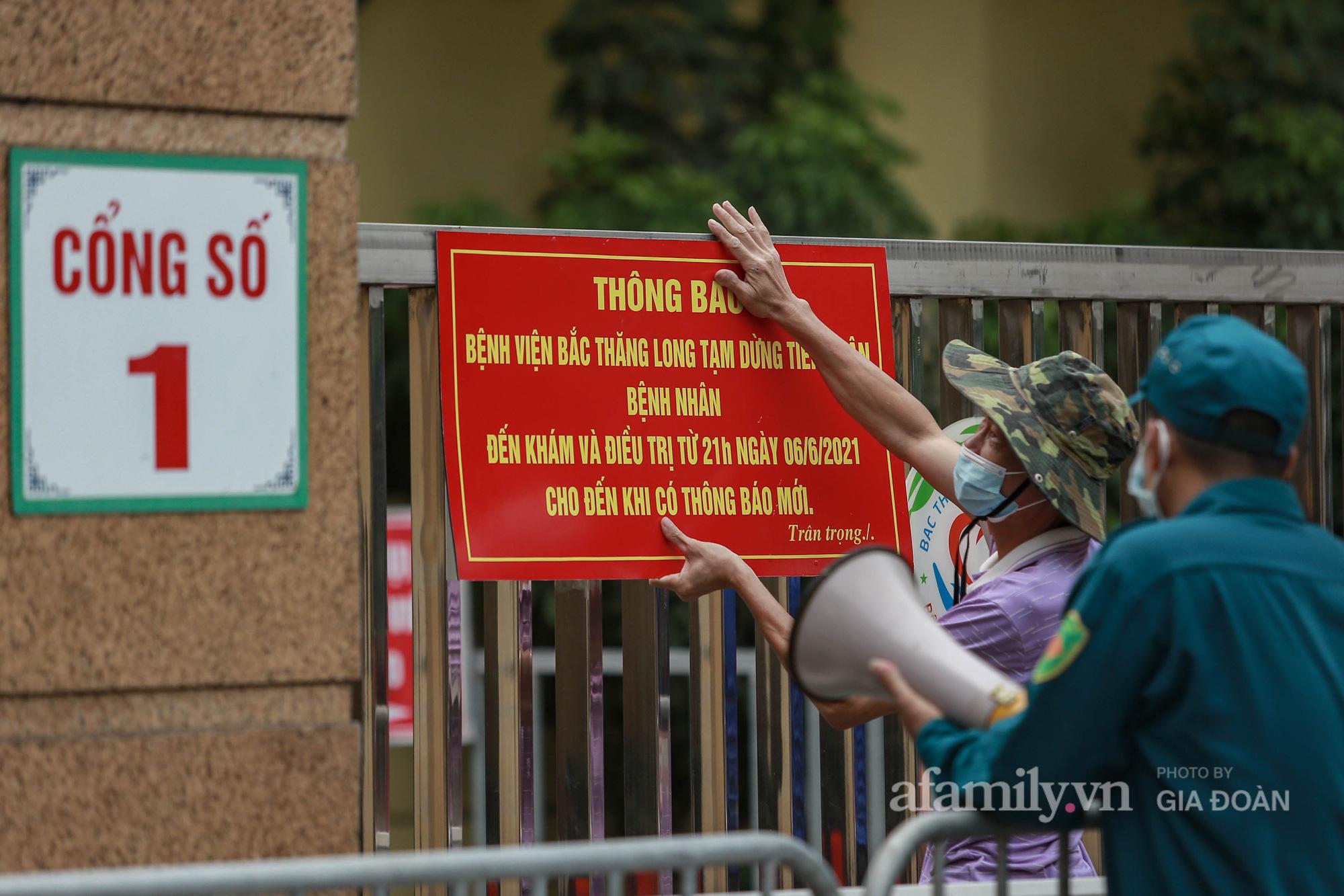 Bệnh viện Bắc Thăng Long tạm thời phong tỏa, dừng tiếp nhận bệnh nhân vì có liên quan đến người phụ nữ bán rau dương tính SARS-CoV-2 trong cộng đồng - Ảnh 10.